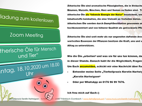 Einladung für ein Online Öle Zoom am 18.10.20 um 18.00 Uhr
