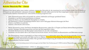 Beliebte ätherische Öle - Zitrone