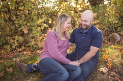 couple sitting and laughing