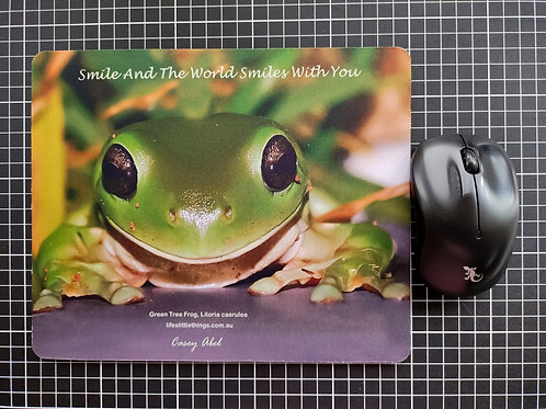 Smiley Frog Mouse Pad
