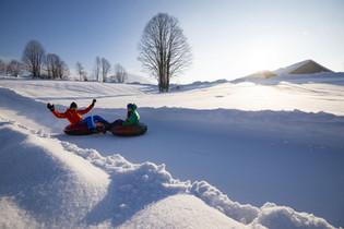 Kaiserwinkl, Snowtubing, Fotograf Bergma