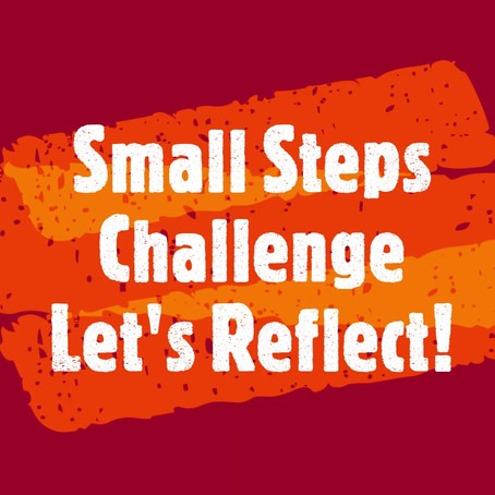 Small Steps Challenge: Let's Reflect!