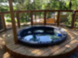 private cottage hot tub