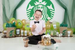 Starbucks cake smash theme