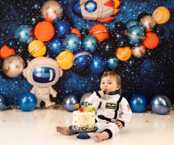space themed cake smash