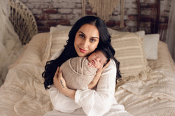 mother with newborn son