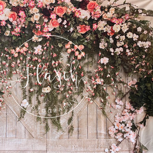 Pink Floral Barn