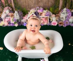floral milk bath photos