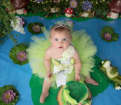 Green princess dress