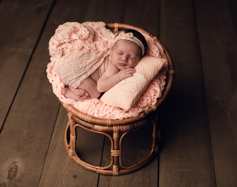 baby girl in chair