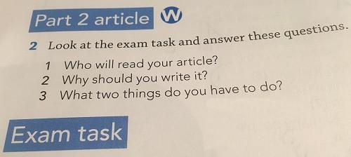 Writing exam.