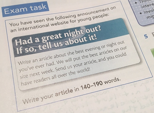Exam task.