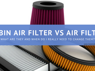 Cabin Air Filter Vs Air Filter