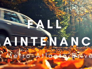 6 Fall Maintenance Items for Metro-Atlanta Drivers