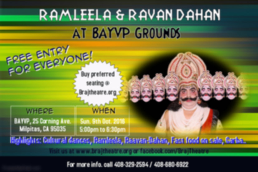 Ramleela by Braj Theatre at BAYVP