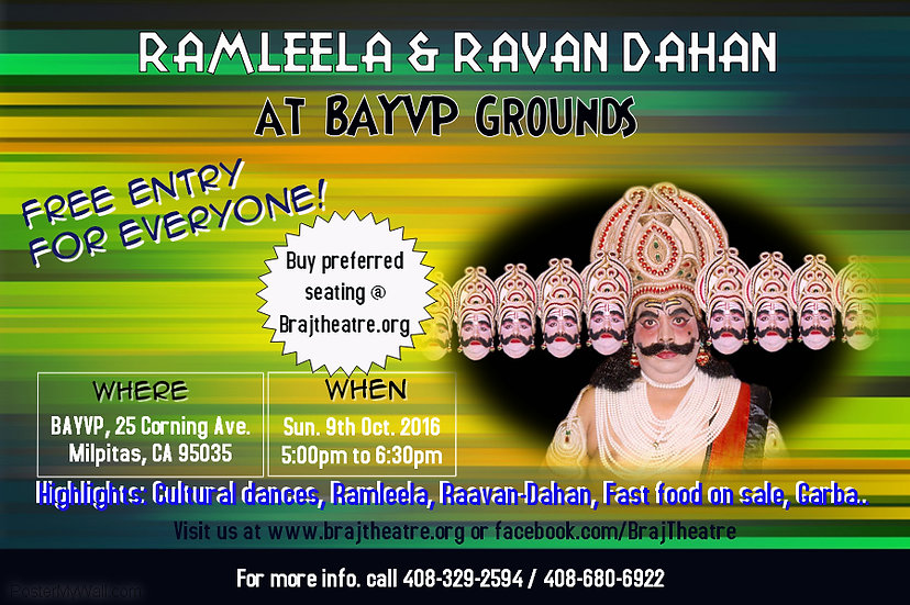 Ramleela by Braj Theatre at BAYVP