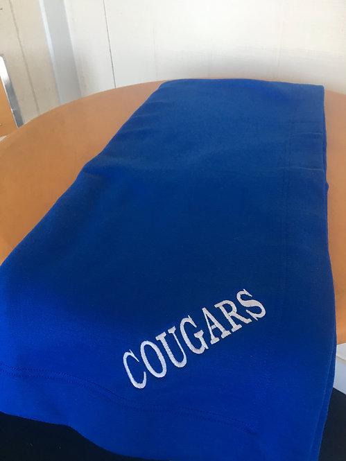 Blue Cougars Gildan Dry Blend Blanket