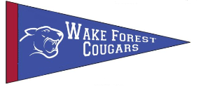 """3 Color """"Wake Forest"""" Pennant"""