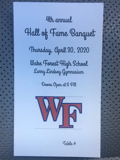 Hall of Fame Ticket - $20.00 Until March 29th.  After they are $25.00.