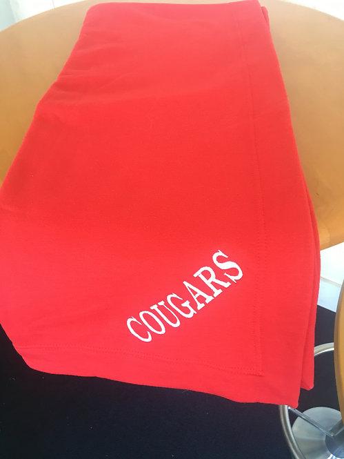 Red Cougars Gildan Dry Blend Blanket