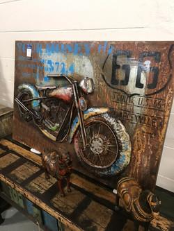 Metal Motorcycle Artwork