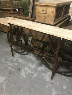 Repurposed Bike Table