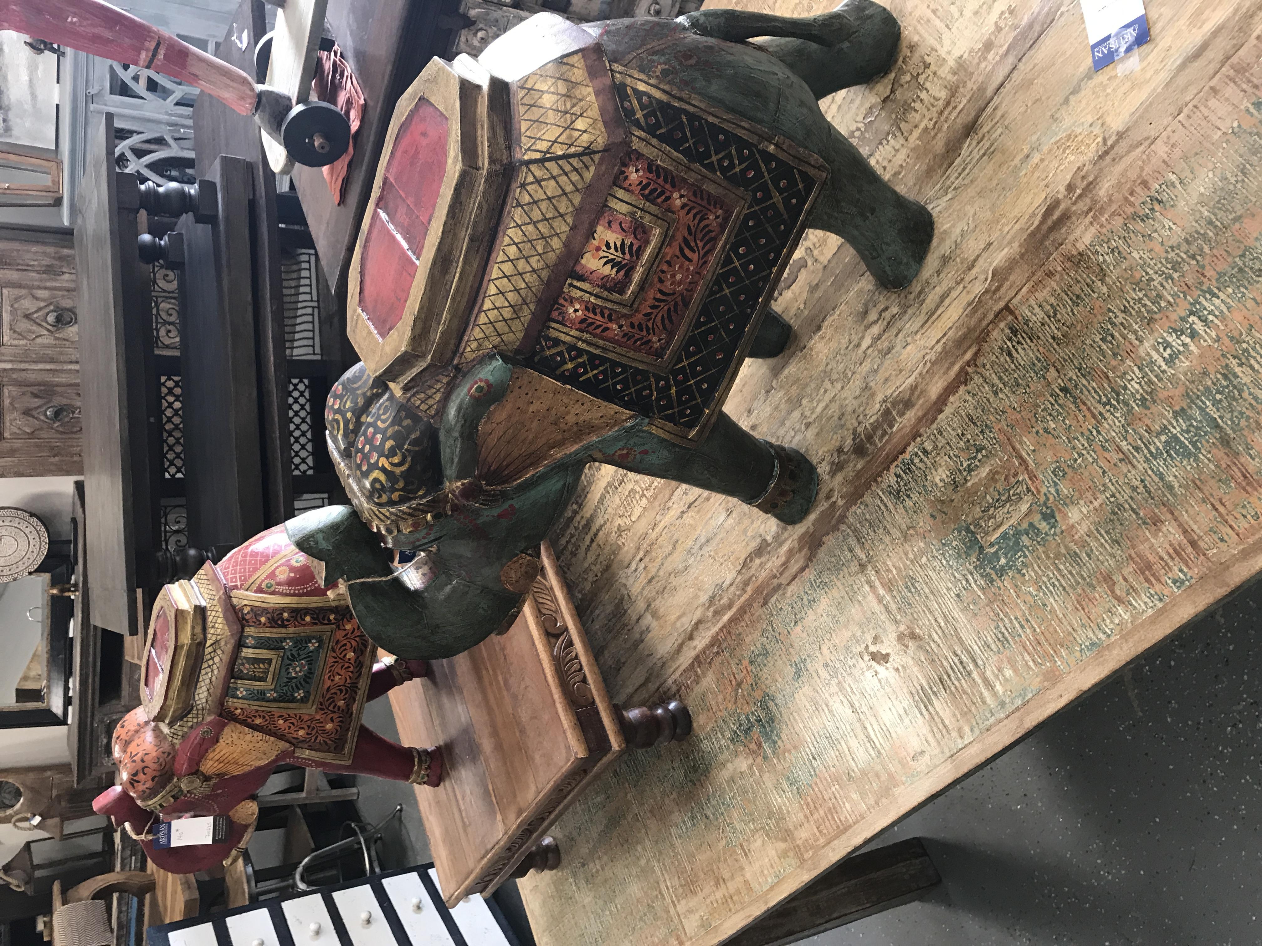 Hand Carved Elephants