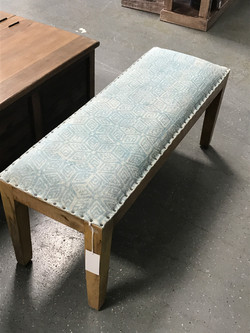 cushion topped bench