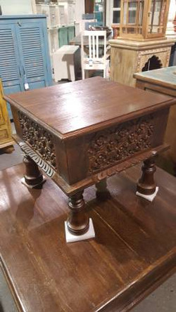 Hand Carved Small Table
