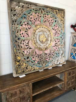 Large Wooden Panel Wall Decor