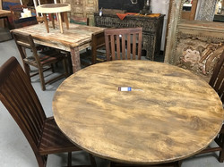 Round Rustic Tables