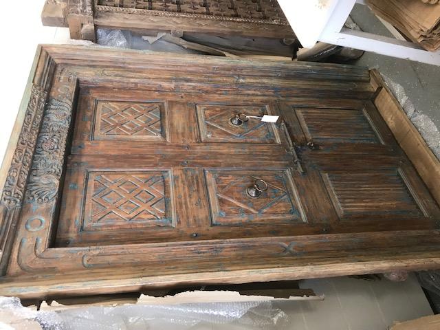 Blue Rustic Reclaimed Door