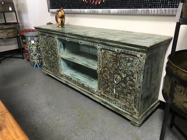 Green Rustic Entertainment Center