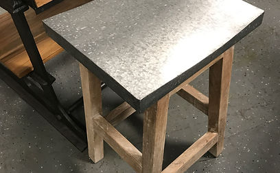 Galvanized Stools Located Within The Artisan Furniture Store In Orlando.