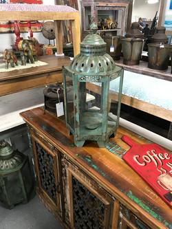 Green Rustic Lantern
