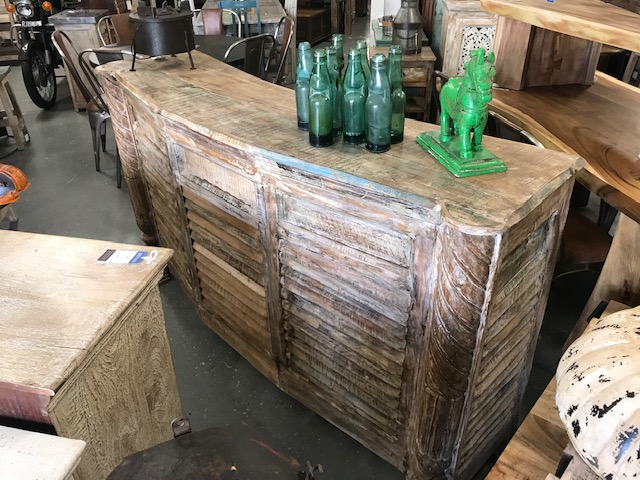 Beautiful Rustic Wooden Bar