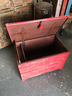Red Rustic Trunk