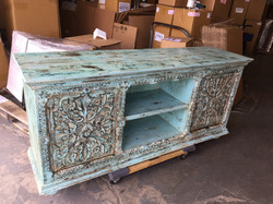 Hand Carved Entertainment Center