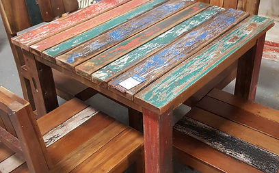 Reclaimed Boat Wood Dinning Set In Artisan Furniture Orlando ...