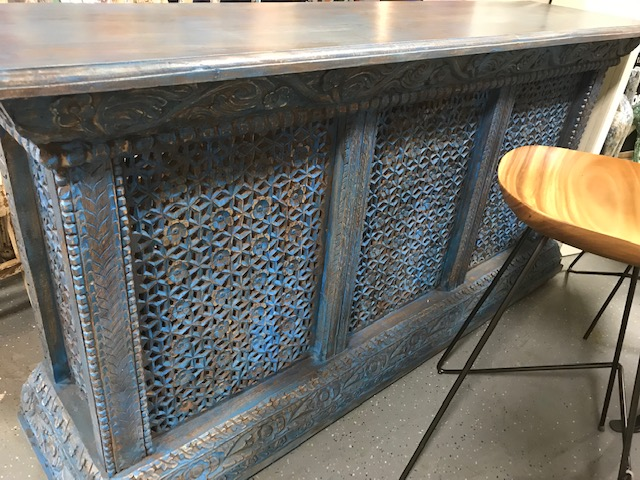 Beautiful Blue Wooden Bar