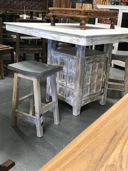 Metal Topped Stools