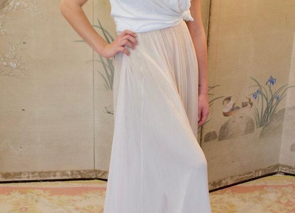 Blush pink tulle floor length skirt