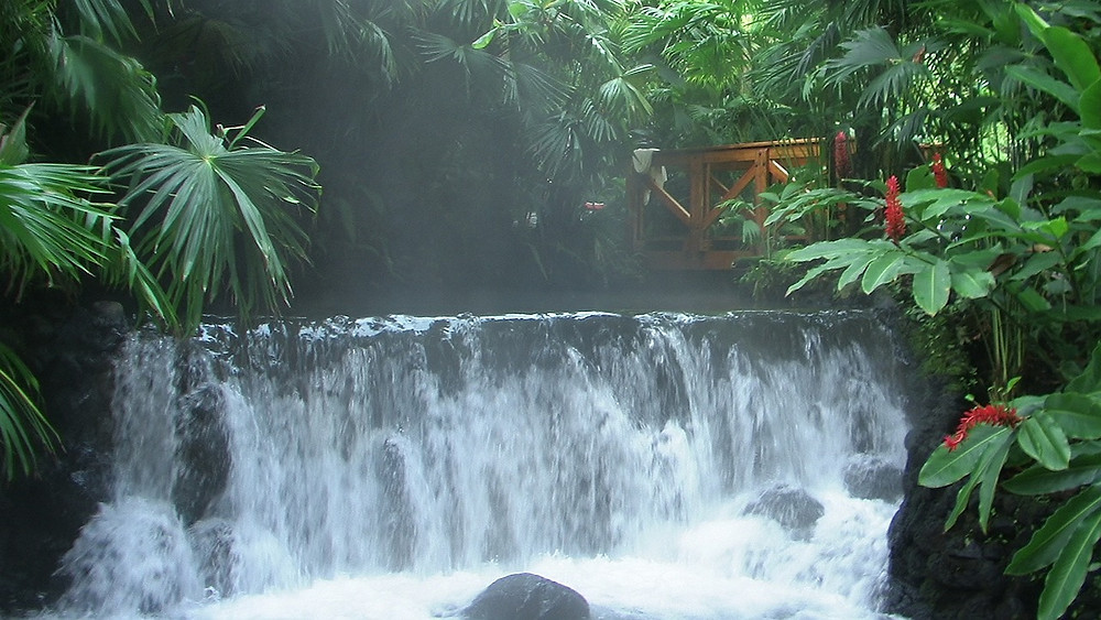 Costa Rica thermal hot spring