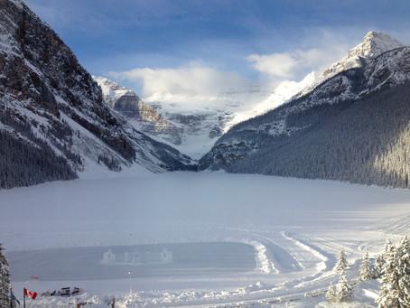Winter honeymoon at Lake Louise, Canada