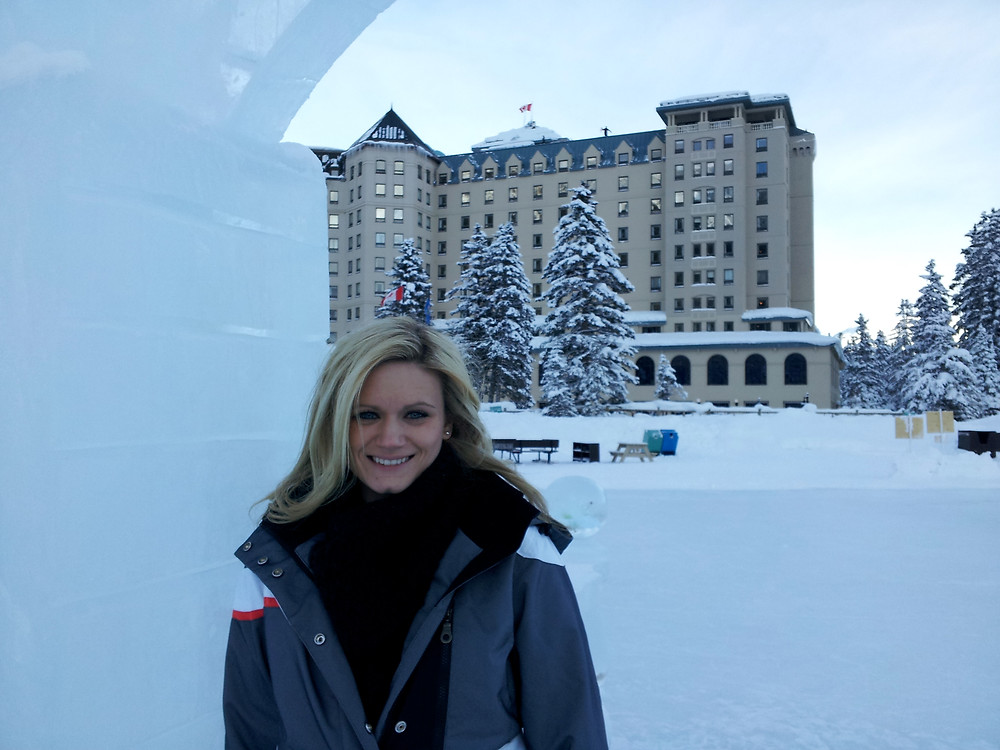 winter honeymoon at Lake Louise