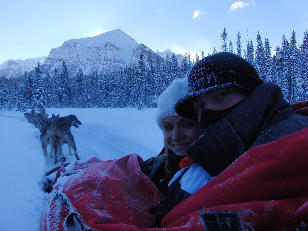 dog sledding Banff National Park