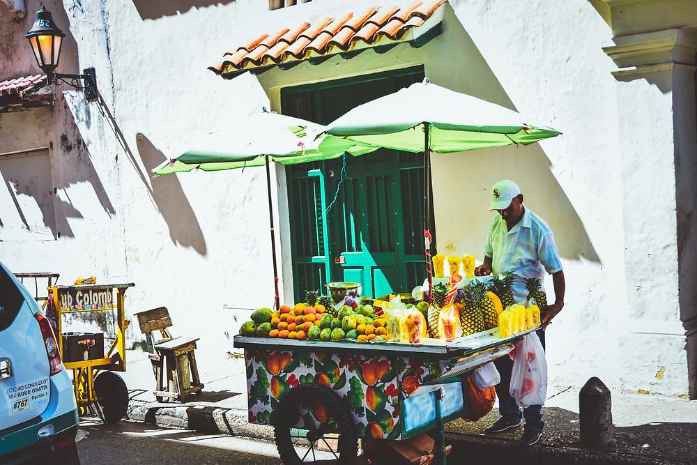 fruit stands of Cartagena