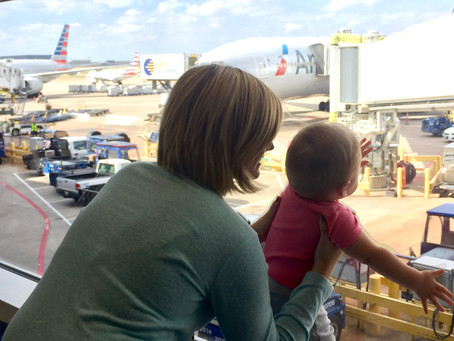 Baby's first flight to Europe