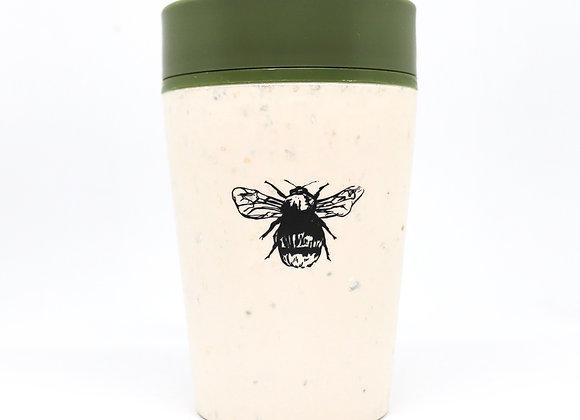 Green 8oz reusable coffee cup