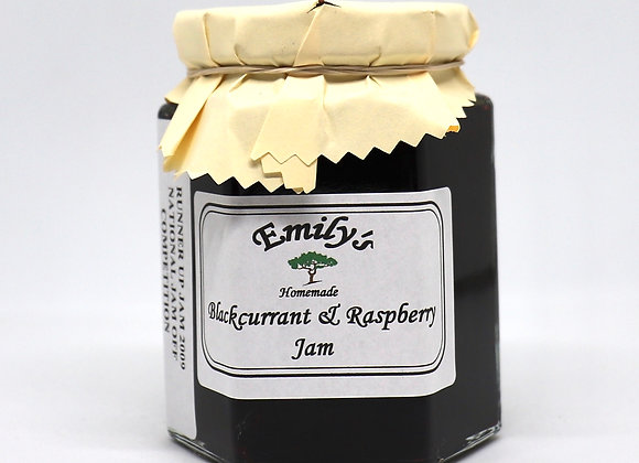 Homemade Blackcurrant & Raspberry Jam